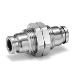 Bulkhead Union Fitting KQG2E, SUS316 One-Touch Pipe Fitting