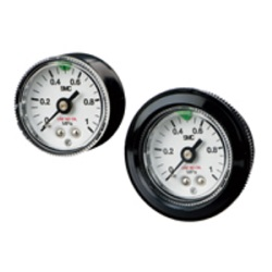 Oil-Free / External Parts Copper-Free Pressure Gauge / With Limit Indicator G46E Series