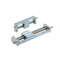 Magnetically Coupled Rodless Cylinder, Slider Type: Slide Bearing, CY1S Series