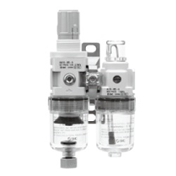 Air Combination, Filter Regulator + Lubricator, AC10A-A To AC40A-A