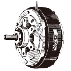 Powder series natural cooling type brake POB
