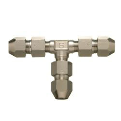 Double Nut Type Fitting Union Tee for Control Copper Pipes
