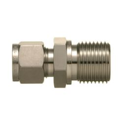 SUS316 Stainless Steel Double Ferrule Fitting, Male Connector (Straight Thread Type)
