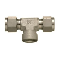 SUS316 Stainless-Steel Double Ferrule System Female Branch Tee