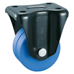 Low Floor Type Heavy-Duty Fixed Caster without Stopper (Dual Wheel), K-558-W