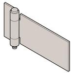Stainless Steel Single Tube Processed Hinge, B-1545