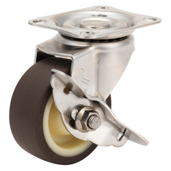 Stainless Steel Freely Swiveling Caster with Stopper, K-1315S