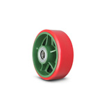 Wheel for Ductile Caster for Marina Urethane Foam Wheel (with Gun Metal Bushings, Nipple/Nylon Bush) TULB-H/TULB-N