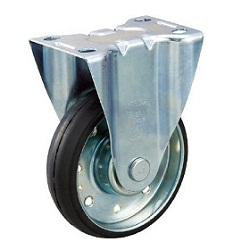 High-Tension Press-Formed Rubber Caster with Fixed Fittings