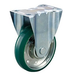 High-Tension Press-Formed Urethane Caster with Fixed Fittings