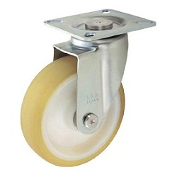 Press-Formed Reduced Noise Caster, Freely Rotating