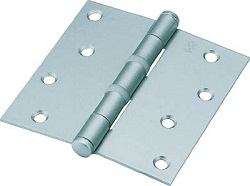 Steel Light Duty Flat Bullet Hinge (Silver Paint Finish)