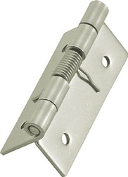Stainless Steel Spring Hinge, Wooden Screw Mounted Type
