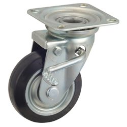 General Purpose Caster Steel Medium Loads Plate Swivel Type W Series WJ (Gold Caster)