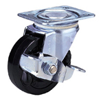 Standard Class 100Bs Track Type, Roller Bearings Included with Stopper, Synthetic Rubber Wheel (Packing Caster)