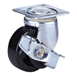 Middle Class 100FH-Ps Truck Type Special Synthetic Resin Wheel with Stopper (Packing Caster) for Medium Loads