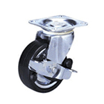 Heavy Duty Synthetic Rubber Wheel with Built-in Roller Bearings and Stopper for Middle Class 100HBs Trucks (Packing Caster)