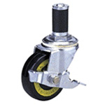 Synthetic Rubber Wheel (Packing Caster) with Conductive Type 200 Es Cask Type Electric Vehicle Stopper