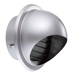 Louver With Round Hood For Automatic Ventilation Opening