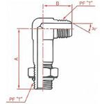 "JIS ""O""-Ring Boss Fitting PF 30° FCS Male 90° Long Elbow with Seat"