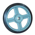 Medium Duty Rubber Wheel (SB Type) with Bearings