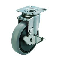 SUS-J2-S Universal Wheel Plate Type (with Stopper)