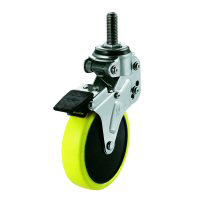 NPT Type Free Wheel Screw-in Type / Anti Static Urethane Foam Wheel (with Stopper)