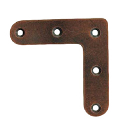 Stainless Steel Flat Side Corner Metal Bracket (Bronze)