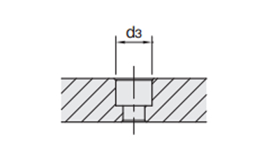 Mounting machining dimensions