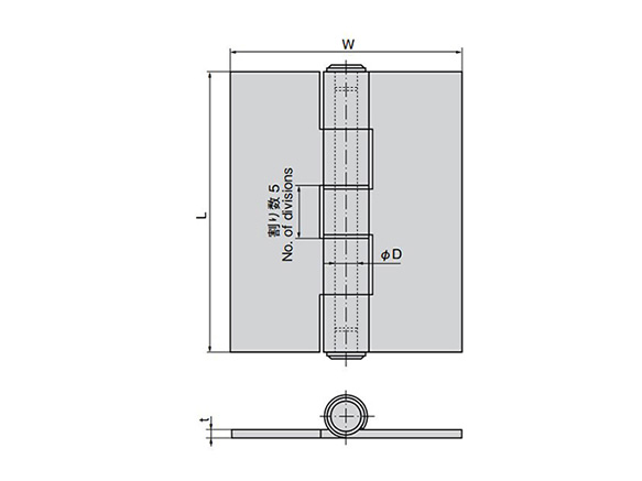 Stainless Steel Butt Hinge For Heavy-Duty Use B-1001: related images