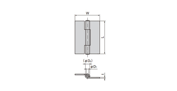 Stainless-Steel Parallel Type Hinge: related images